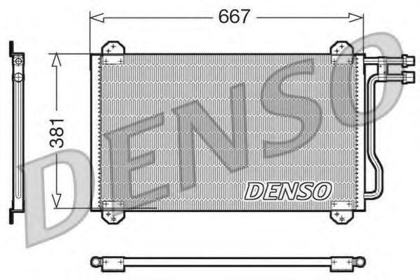 Радиатор кондиционера DENSO DCN17055