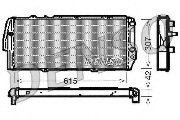 Радиатор, охлаждение двигателя DENSO DRM02040