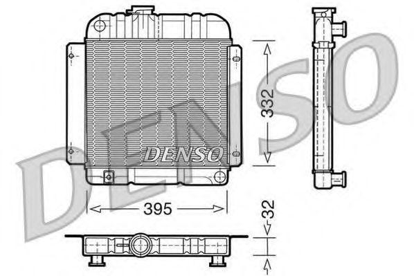 Радиатор, охлаждение двигателя DENSO DRM05001