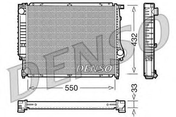 Радиатор охлаждения DENSO DRM05023