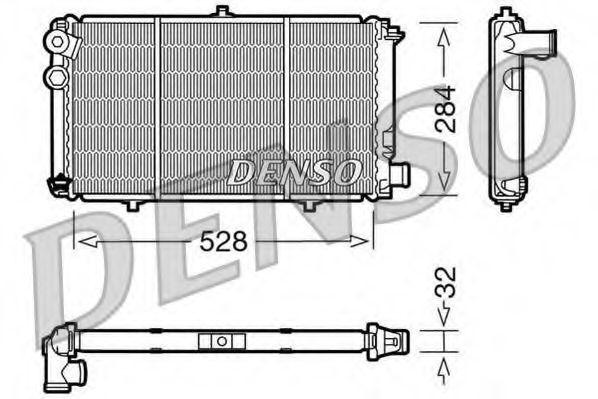Радиатор, охлаждение двигателя DENSO DRM07001