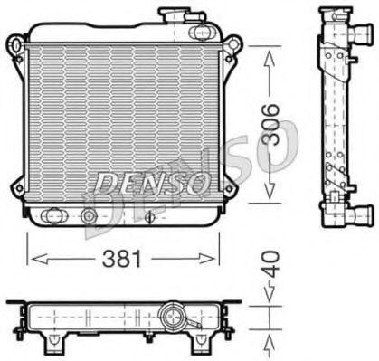 Радиатор, охлаждение двигателя DENSO DRM09001