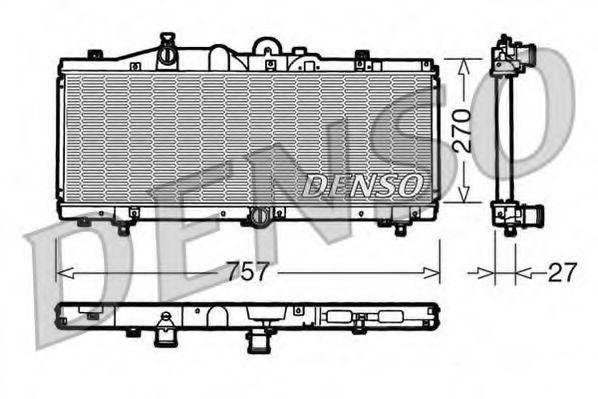 Радиатор, охлаждение двигателя DENSO DRM09010