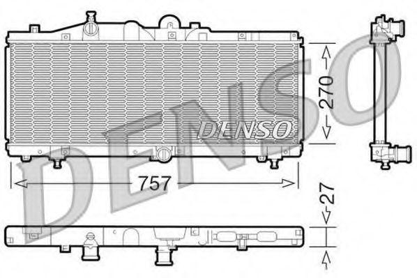 Радиатор, охлаждение двигателя DENSO DRM09011