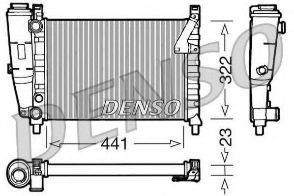Радиатор, охлаждение двигателя DENSO DRM09143