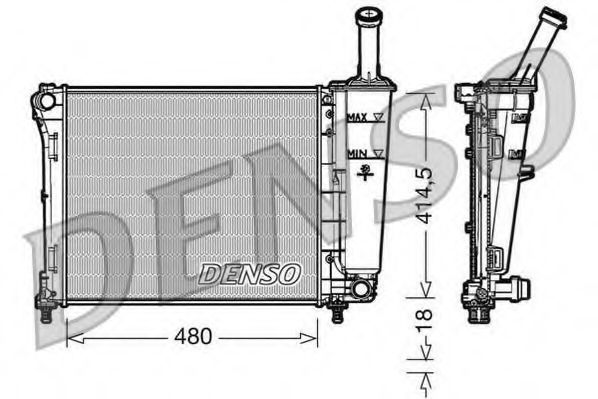 Радиатор DENSO DRM09161