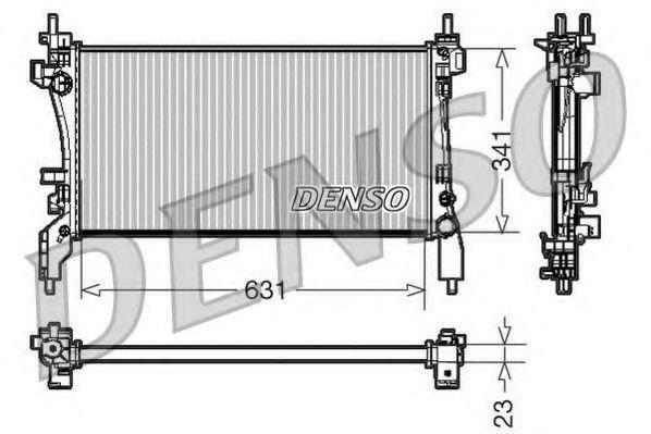 Радиатор охлаждения DENSO DRM09172