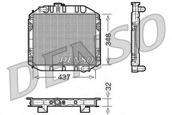 Радиатор, охлаждение двигателя DENSO DRM10001