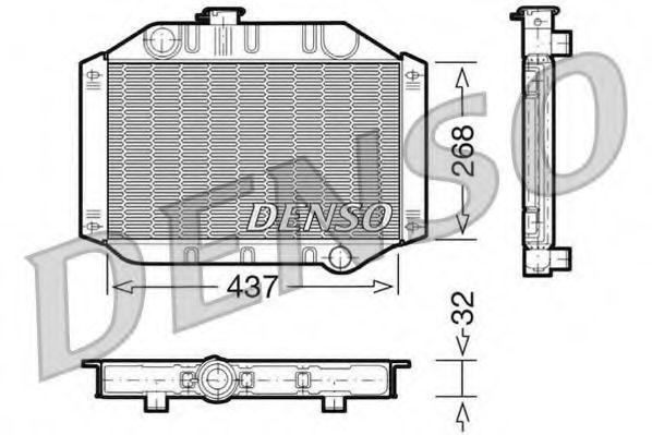 Радиатор, охлаждение двигателя DENSO DRM10010