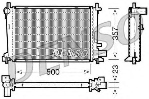 Радиатор, охлаждение двигателя DENSO DRM10038