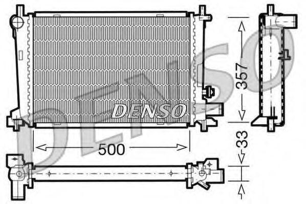 Радиатор, охлаждение двигателя DENSO DRM10039
