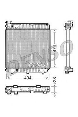Радиатор охлаждения DENSO DRM17001