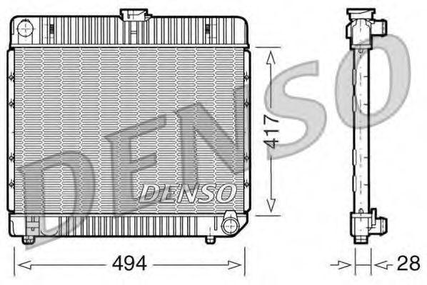 Радиатор охлаждения DENSO DRM17020