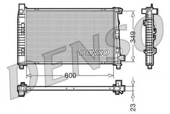 Радиатор охлаждения DENSO DRM17100