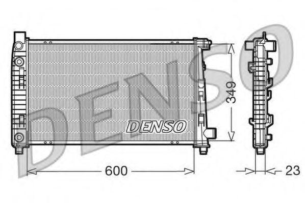 Радиатор, охлаждение двигателя DENSO DRM17102