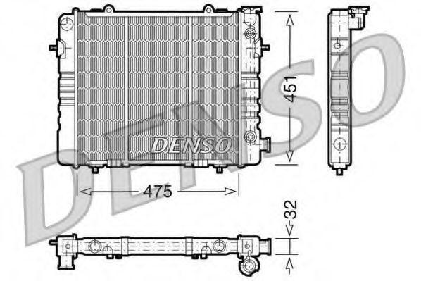 Радиатор, охлаждение двигателя DENSO DRM20050