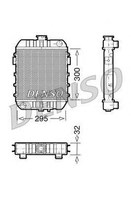 Радиатор, охлаждение двигателя DENSO DRM20060