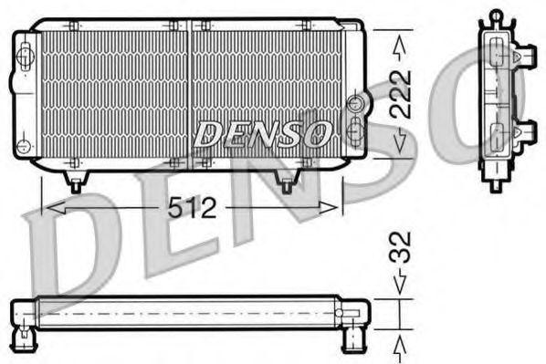 Радиатор, охлаждение двигателя DENSO DRM21001