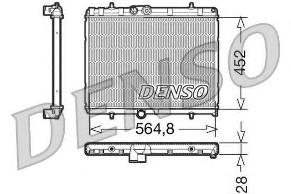 Радиатор охлаждения DENSO DRM21057