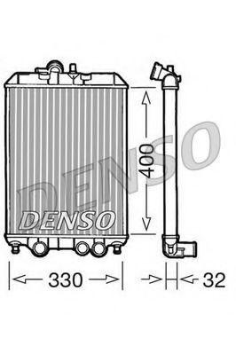 Радиатор, охлаждение двигателя DENSO DRM22001