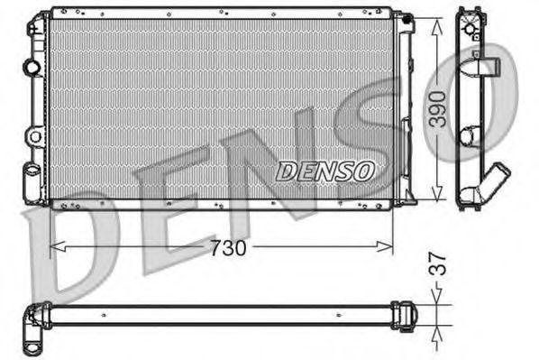 Радиатор, охлаждение двигателя DENSO DRM23091