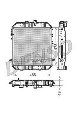 Радиатор, охлаждение двигателя DENSO DRM45200