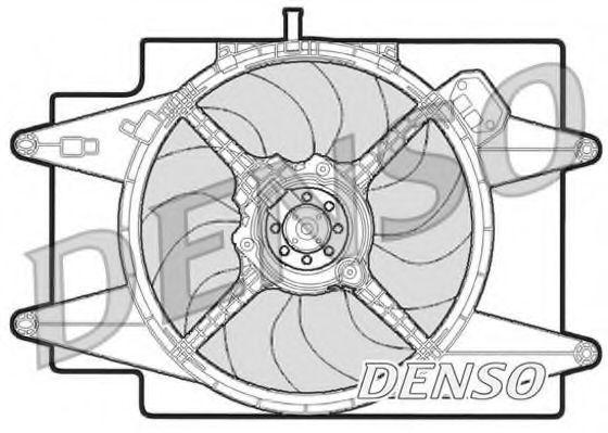 Вентилятор, охлаждение двигателя DENSO DER01002