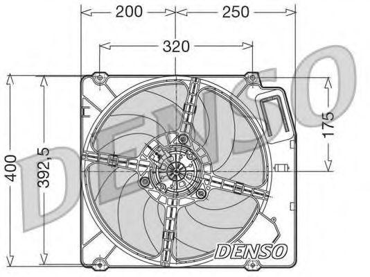 Вентилятор, охлаждение двигателя DENSO DER01003