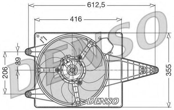 Вентилятор, охлаждение двигателя DENSO DER01004