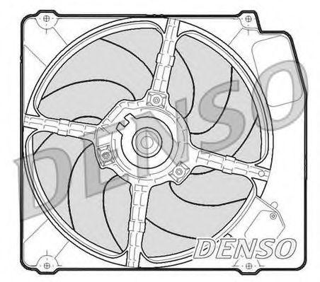 Вентилятор, охлаждение двигателя DENSO DER01203