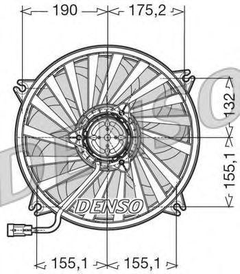 Вентилятор, охлаждение двигателя DENSO DER07005