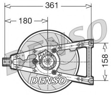 Вентилятор, охлаждение двигателя DENSO DER09011