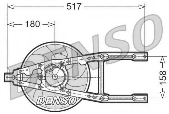 Вентилятор, охлаждение двигателя DENSO DER09012