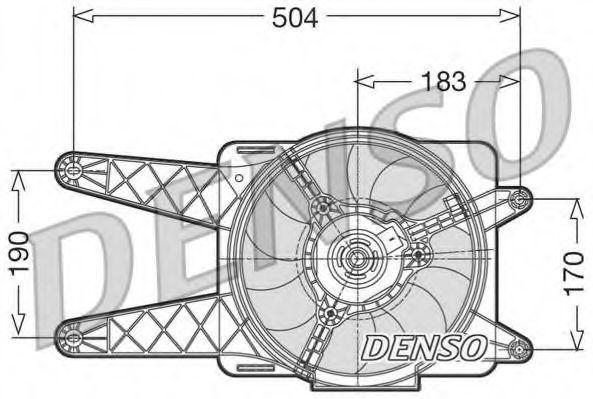 Вентилятор охлаждения двигателя DENSO DER09016