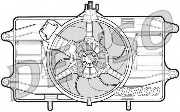 Вентилятор радиатора DENSO DER09021