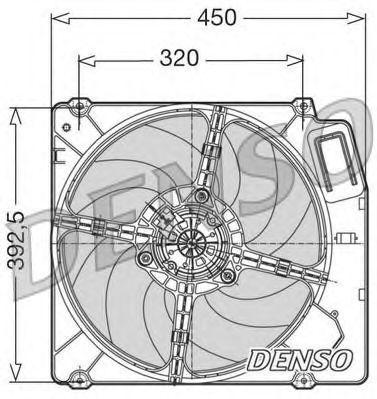 Вентилятор, охлаждение двигателя DENSO DER09028