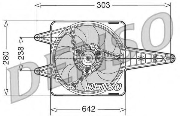 Вентилятор, охлаждение двигателя DENSO DER09029