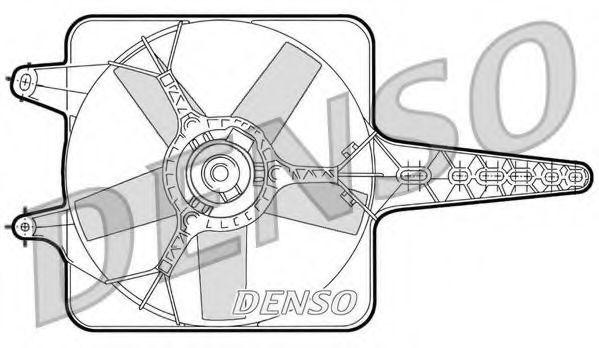 Вентилятор, охлаждение двигателя DENSO DER09071