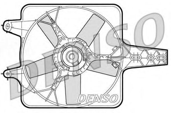 Вентилятор, охлаждение двигателя DENSO DER09072