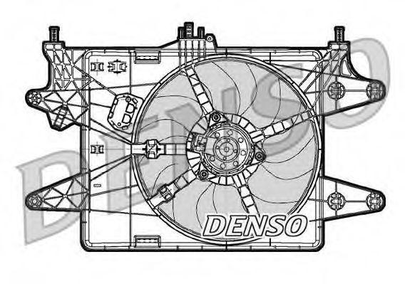 Вентилятор радиатора DENSO DER09081