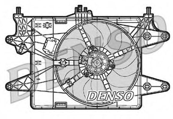 Диффузор с вентилятором DENSO DER09083