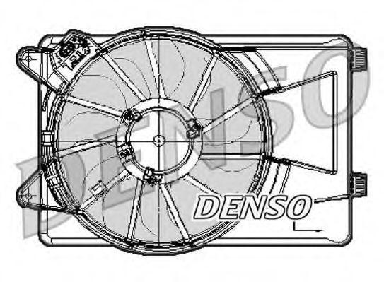 Вентилятор, охлаждение двигателя DENSO DER09301