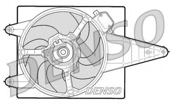Вентилятор, охлаждение двигателя DENSO DER13204