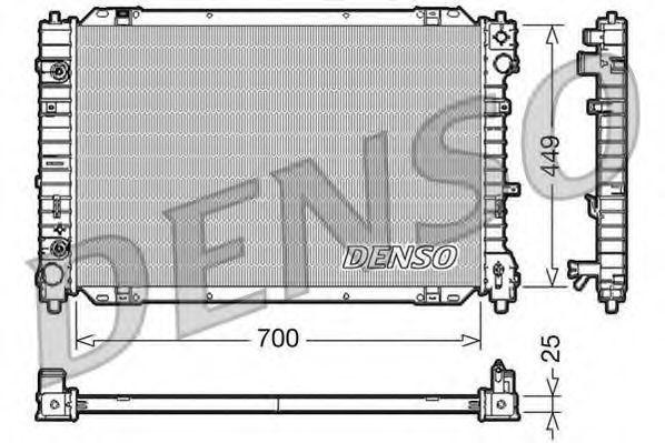 Радиатор, охлаждение двигателя DENSO DRM10089