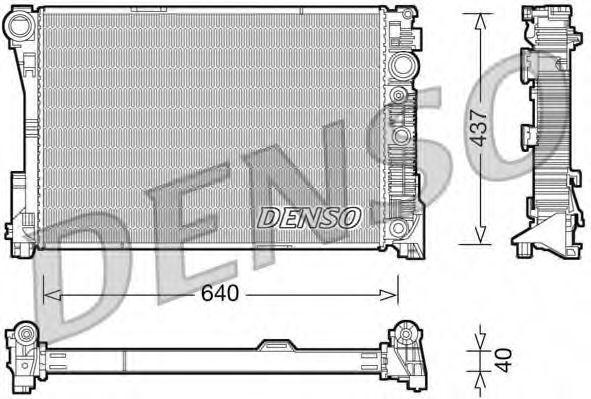 Радиатор охлаждения DENSO DRM17046