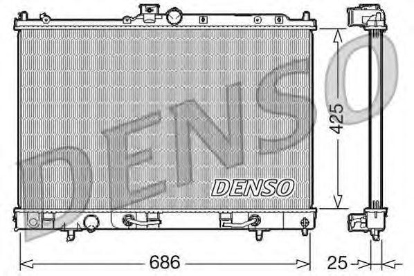 Радиатор, охлаждение двигателя DENSO DRM45027