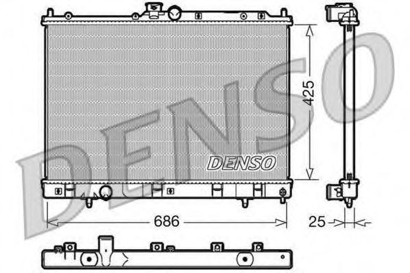 Радиатор, охлаждение двигателя DENSO DRM45028