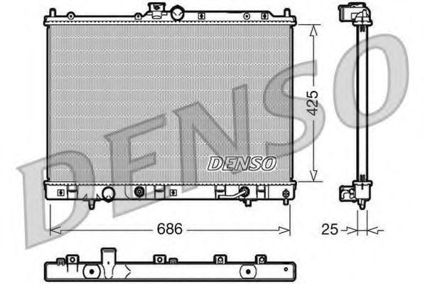 Радиатор, охлаждение двигателя DENSO DRM45030