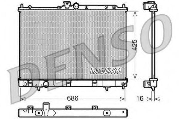 Радиатор, охлаждение двигателя DENSO DRM45031