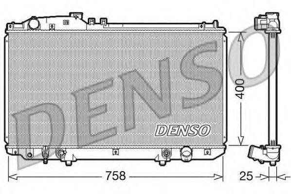 Радиатор, охлаждение двигателя DENSO DRM51006